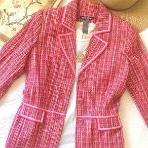 Bisou Bisou Pink Tweed Blazer